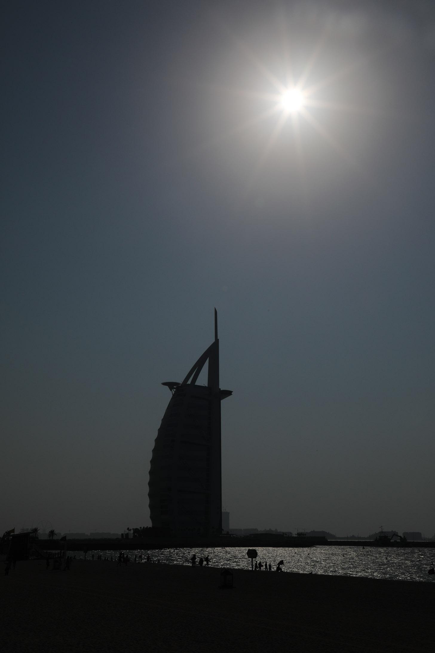 Burj al Arab met tegenlicht