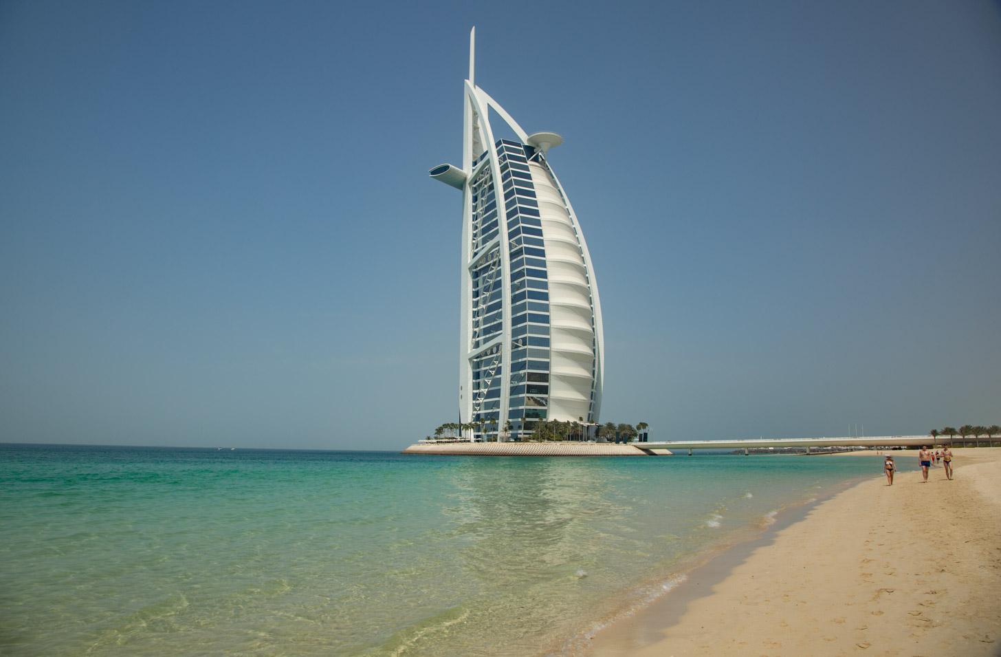 Het prachtige Burj Al Arab hotel