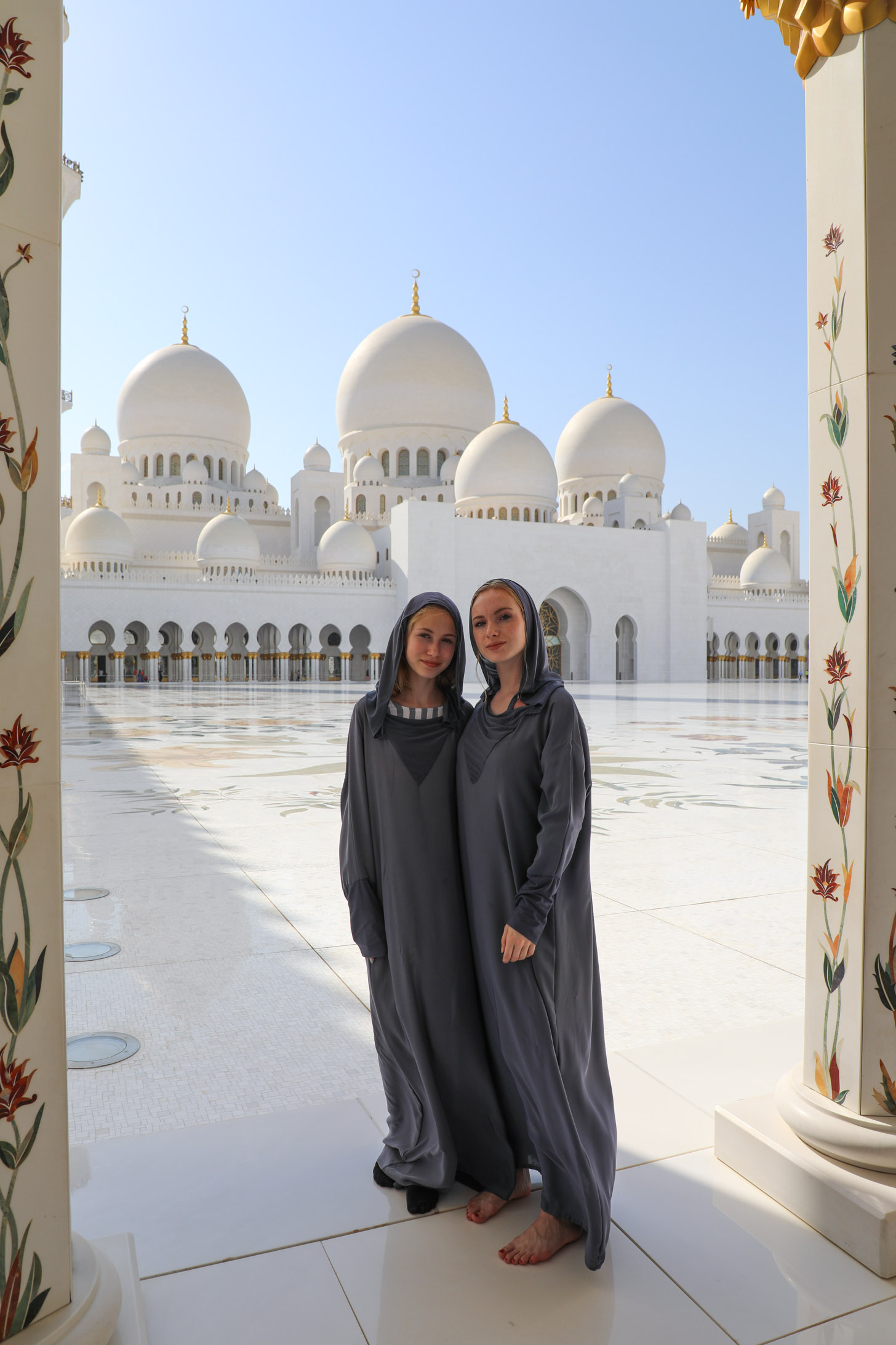 De Sheikh Zayed Grand Mosque in Abu Dhabi