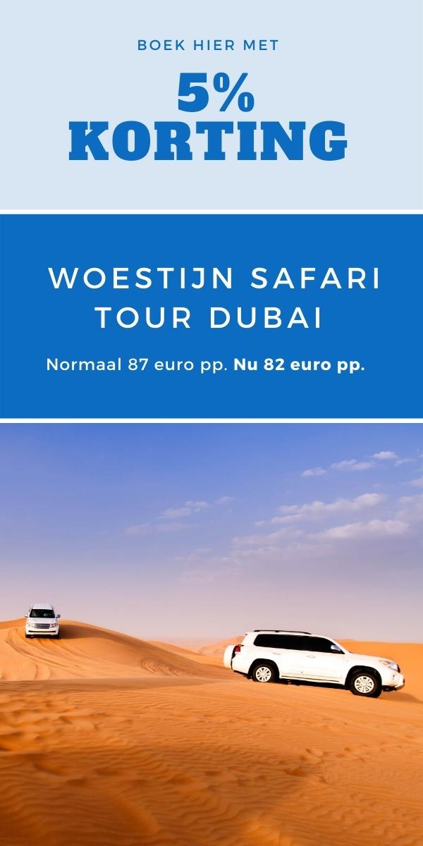 Woestijnsafari Dubai met korting